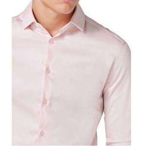 NEW Topman Muscle Slim Fit Texture Dress Shirt XS